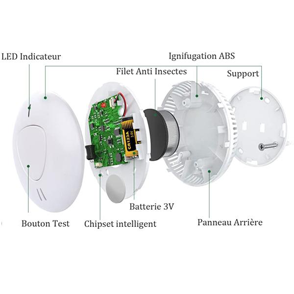 10 years battery powered smoke alarm