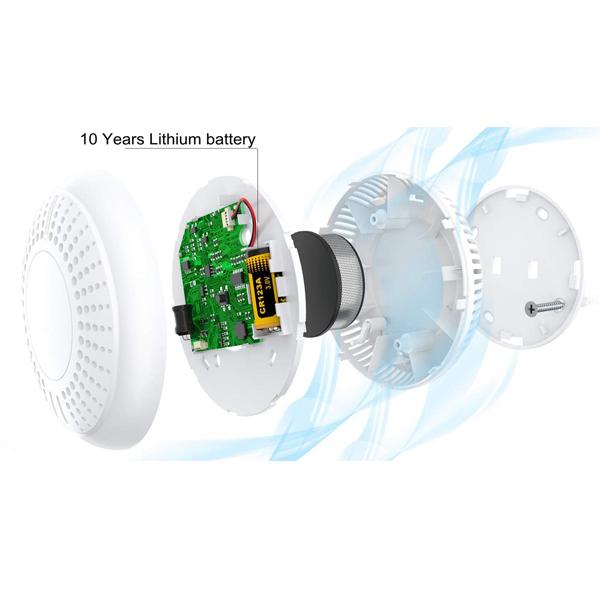 battery powered smoke alarm