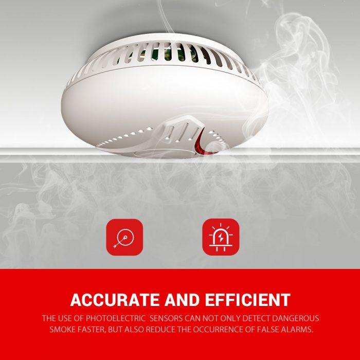 EN14604 wireless Interlinked smoke alarm