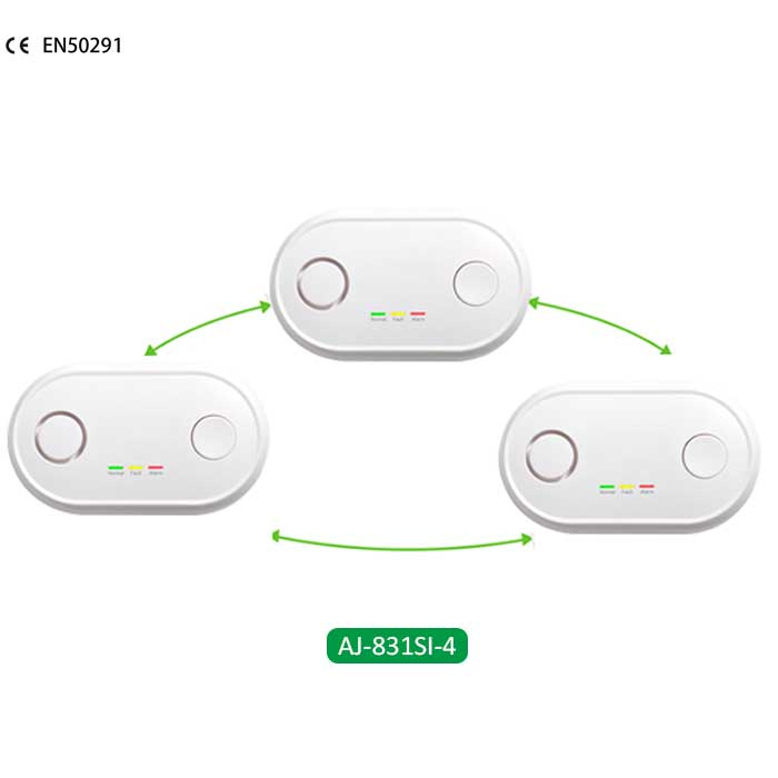 Interlinked carbon monoxide detector